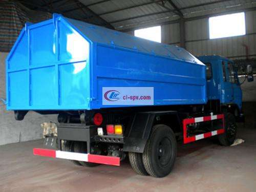 Dongfeng 153 12 square hook arm garbage truck pictures