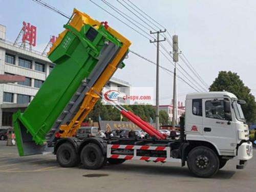 Dongfeng Yulong 25 Ton Hook Arm Garbage Truck Picture