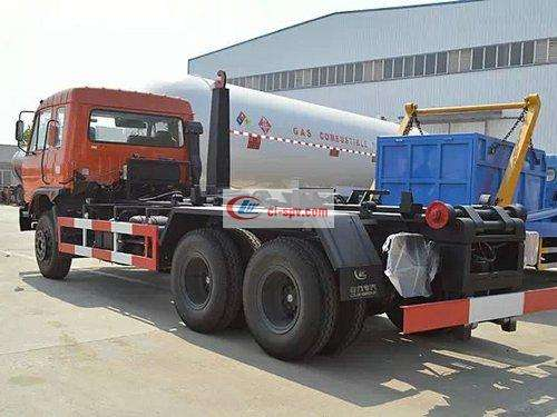Picture of Dongfeng Rear Shuangqiao 16 Square Hook Arm Garbage Truck