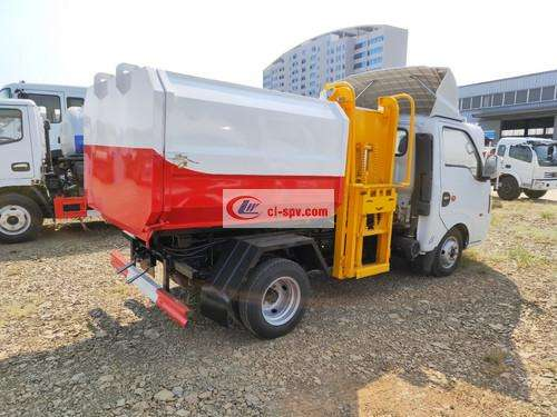 Picture of National Six Dongfeng Tuyi 3-party Hanging Bin Garbage Truck