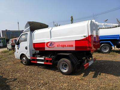 国六东风途逸3方挂桶垃圾车图片