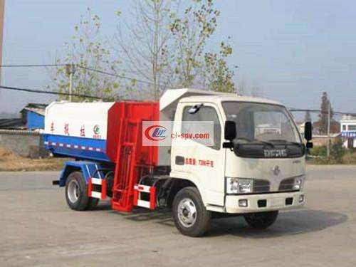 Dongfeng 5 square hanging bucket garbage truck pictures