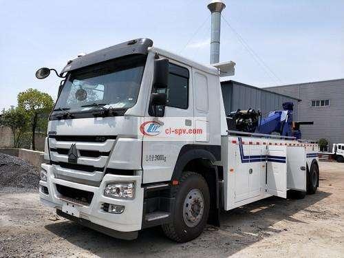 Picture of Heavy Duty Truck Howo 16 Ton 20 Ton Heavy Road Wrecker Truck