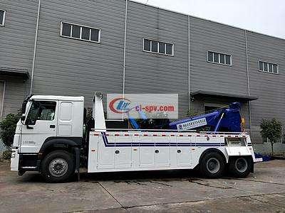 重汽豪沃16吨20吨重型道路清障车图片