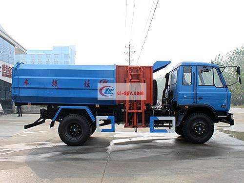 Dongfeng 12 square hanging bucket garbage truck pictures