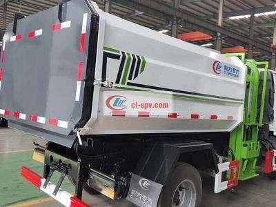 国六东风多利卡5方侧装挂桶垃圾车图片
