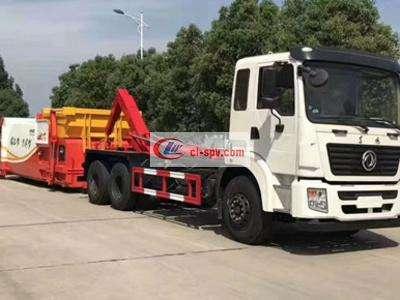 东风25吨勾臂式垃圾车图片