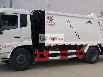 东风天锦压缩式垃圾车图片
