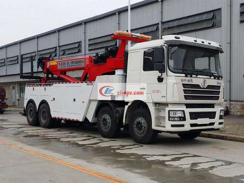 Picture of Shaanxi Automobile's front four rear eight trailer crane combined wrecker truck