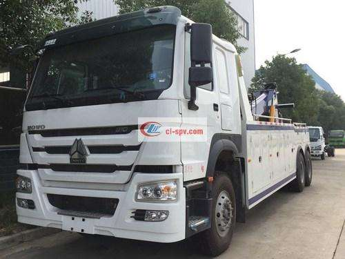 Picture of Sinotruk Howo Rear Double-Axle Towing Crane Conjoined Wrecker Truck