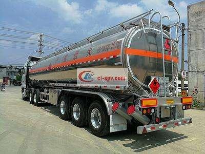 铝合金半挂30吨33吨35吨油罐车图片