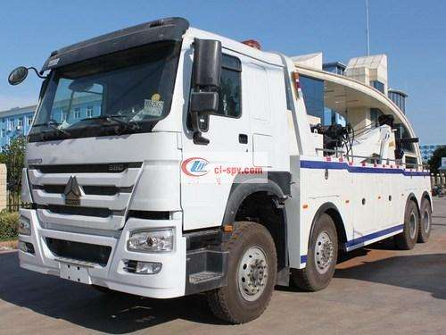 SINOTRUK HOWO first four rear eight wrecker pictures