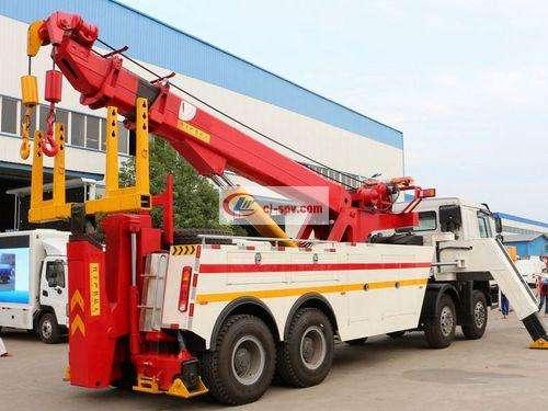 Sinotruk Howo 360-degree rotating wrecker truck picture