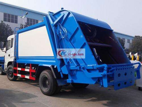 Picture of Dongfeng Special Commercial 12-square Compression Garbage Truck