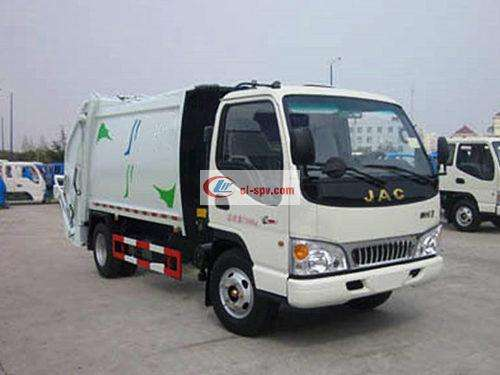 Picture of JAC 5 square compression garbage truck