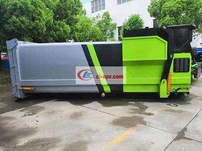 20吨东风天龙后双桥大勾臂垃圾车270马力价格图片