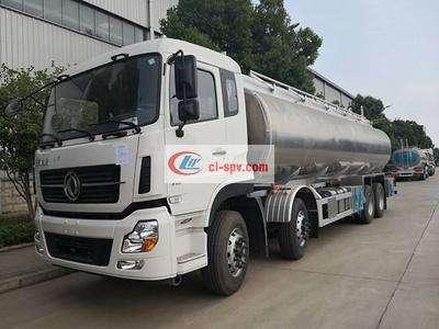 东风天龙20吨铝合金油罐车图片