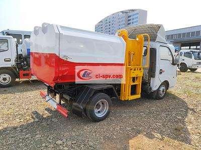 国六东风途逸3方 small 挂桶垃圾车(汽油版)图片