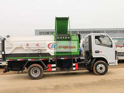 国六东风5方侧装挂桶压缩垃圾车图片