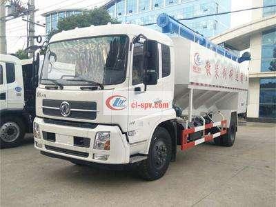 东风天锦10吨22方液压散装饲料车图片
