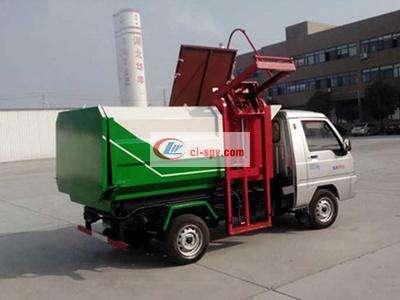 福田驭菱3方国五挂桶垃圾车图片