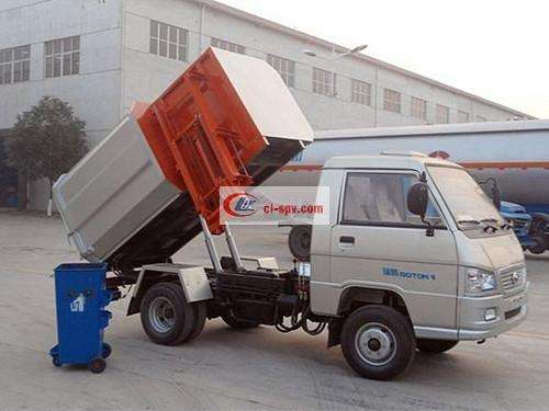 Foton 3 party hanging bin garbage truck picture