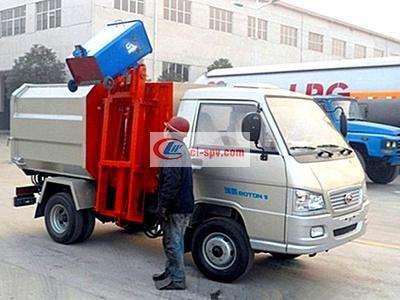 福田驭菱3方挂桶垃圾车图片