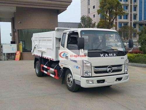 Kaima 4 ton compression docking garbage truck-4 cubic compression docking garbage truck pictures