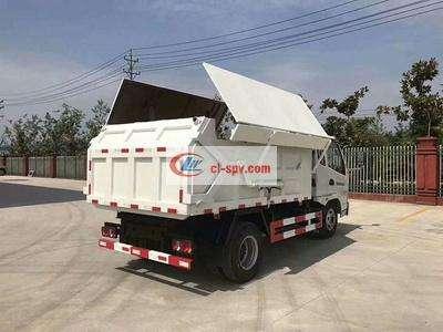 凯马4吨压缩对接式垃圾车-4立方压缩对接式垃圾车图片
