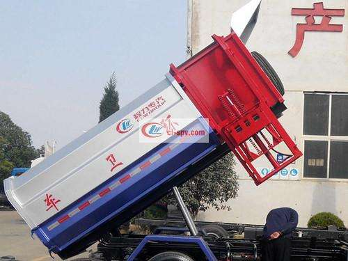 Dongfeng Duolika 8 square hanging bin garbage truck pictures