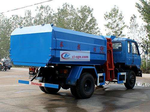 Dongfeng 145 12 square hanging bin garbage truck pictures