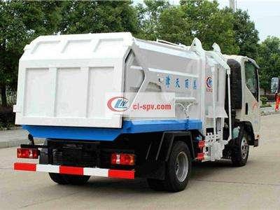 凯马3方压缩式对接垃圾车图片