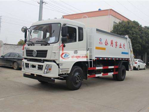 Picture of Dongfeng Special Bottom 10-square Compression Garbage Truck
