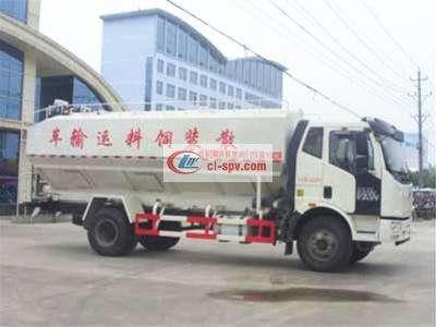 解放10吨散装饲料运输车图片