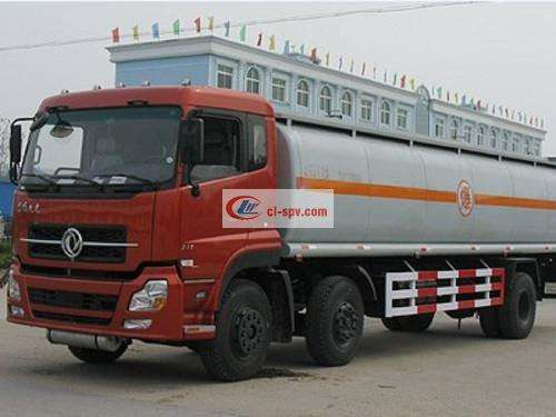 Dongfeng Tianlong Front Double Rear Single Chemical Liquid Transporter Picture