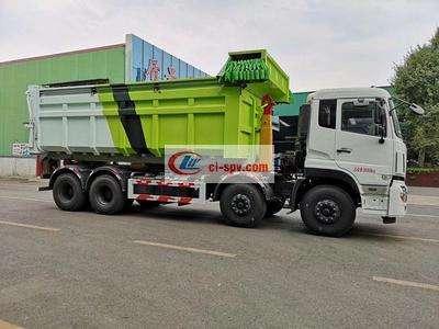 30吨东风勾臂垃圾车厂家价格前四后八340大马力图片