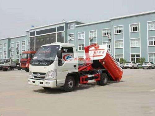 Foton Times 5 Side Hook Arm Garbage Truck Picture