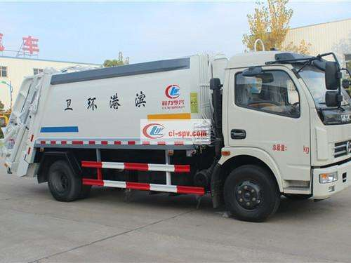 Picture of Dongfeng Dolika 10-square compression garbage truck
