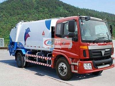 福田欧曼12吨压缩垃圾车图片