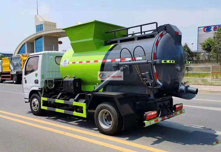 东风多利卡餐厨垃圾车后方位图