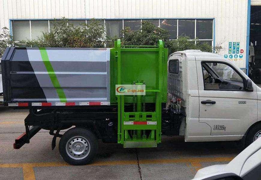 福田祥菱3方挂桶垃圾车图片