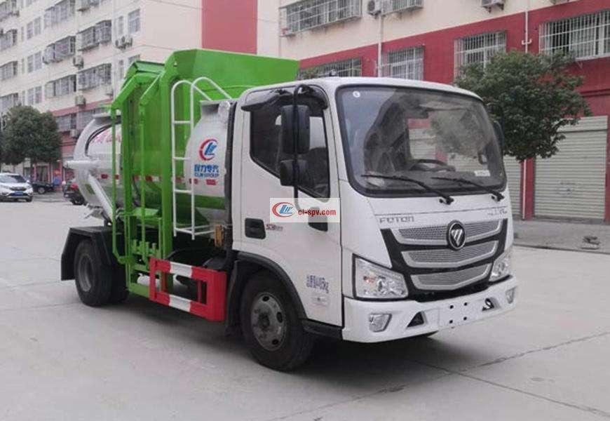 Foton Omark Kitchen Garbage Truck (Round Can) National VI