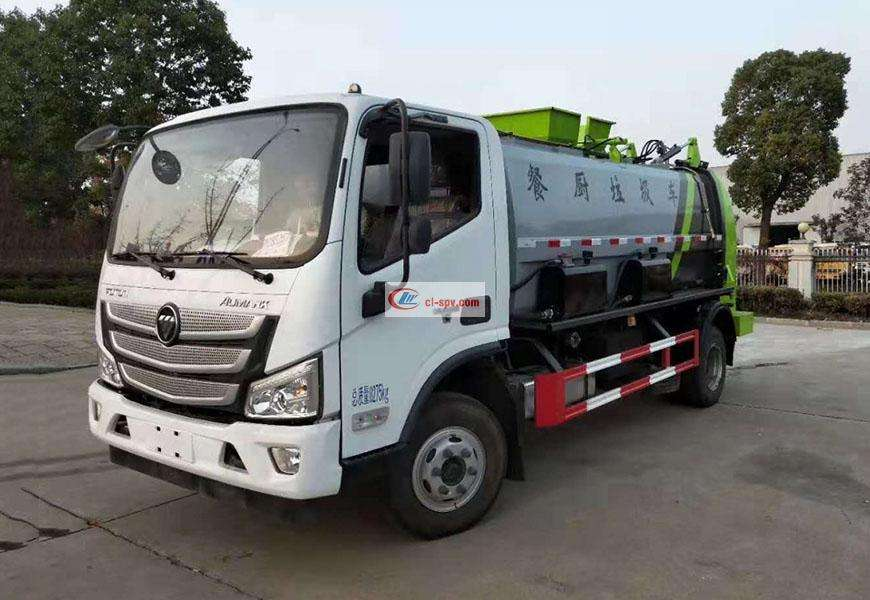 Foton Omarco Kitchen Garbage Truck (square cans) National VI