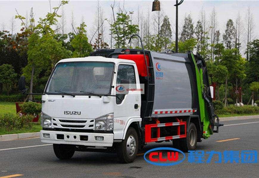 Isuzu 6-party compact garbage truck National VI