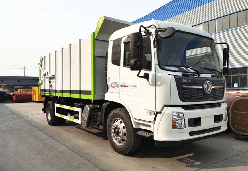 Dongfeng Tianjin Compression Docking Garbage Truck National VI