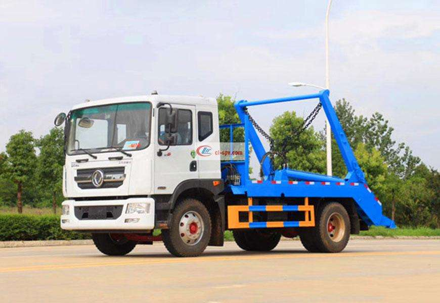 Dongfeng Duolika D9 swing arm garbage truck National VI