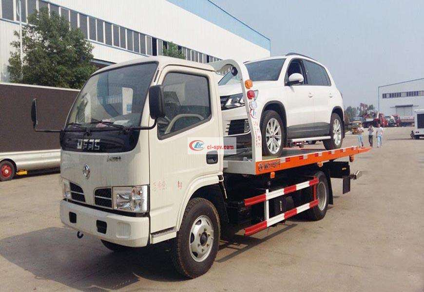 Dongfeng Dolica Blue CLW5041TQZ5 One Tow Two Wrecker Truck
