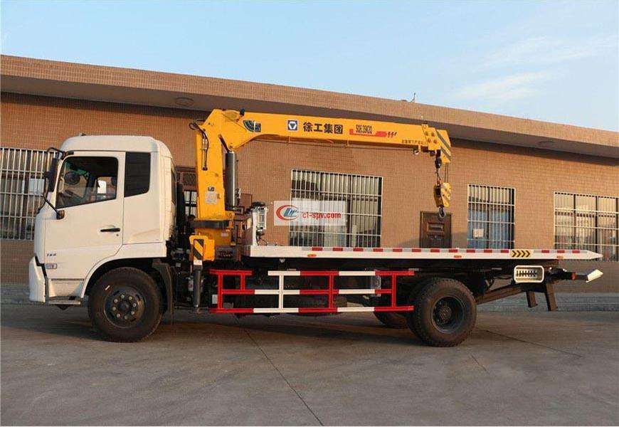 Dongfeng Tianjin CLW5122TQZD5 flatbed wrecker wrecker with crane