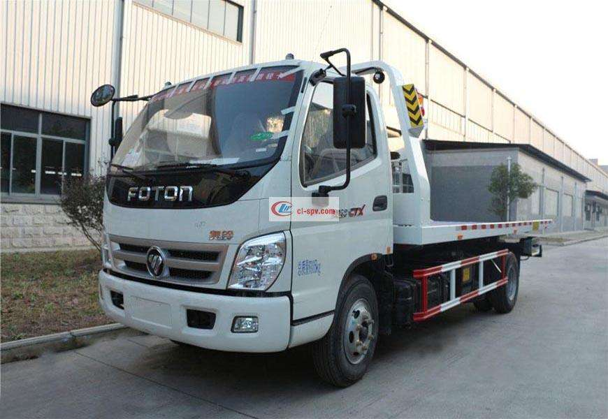 Foton Aoling CLW5041TQZB5 one-to-two wrecker truck