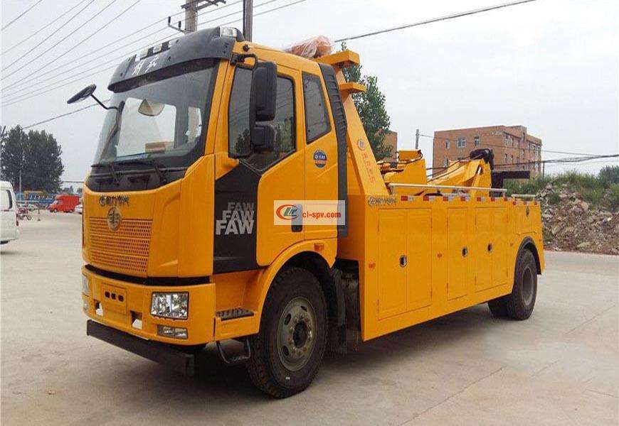 Jiefang single-axle CLW5160TQZC5 wrecker truck